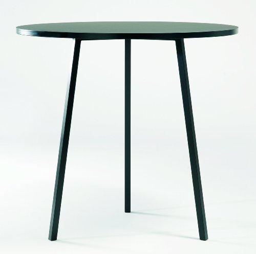 LOOP-STAND-HIGH-runder-Tisch-Schwarz-HAY-Design