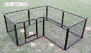 BestPet Heavy Duty Pet Playpen Dog Exercise Pen Cat Fence B, 40-Inch, Black