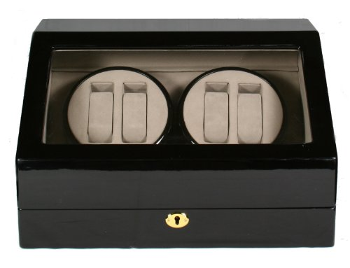 TOP QUALITY AUTOMATIC QUAD WOOD WATCH WINDER 4 + 6 STORAGE BOX CASE