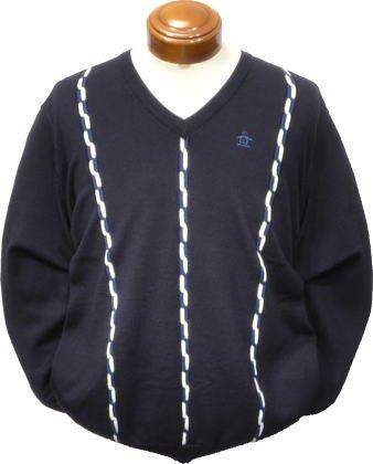 (マンシング) Munsingwear メンズ Vネックセーター SG4345 M ネイビー