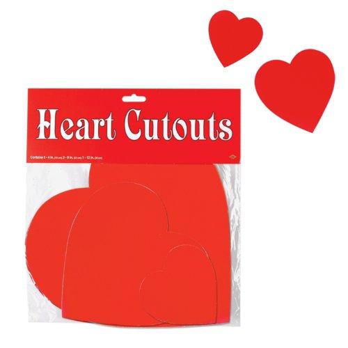 Pkgd Printed Heart Cutouts   (9/Pkg)