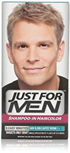 Just for Men Shampoo-In Hair Color, Dark Blond/Lightest Brown H-15, 1 application, (Pack of 3)