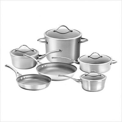 Calphalon Contemporary Stainless Steel Nonstick 10 Piece Set