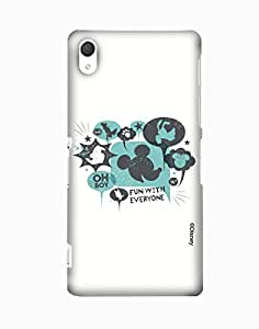 Pick Pattern with Exclusive DISNEY Characters Back Cover for Sony Xperia Z2
