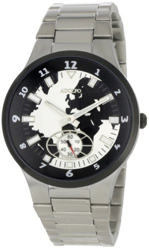 ADOLFO Men's 31017A World Dial Second Sub Zone Watch