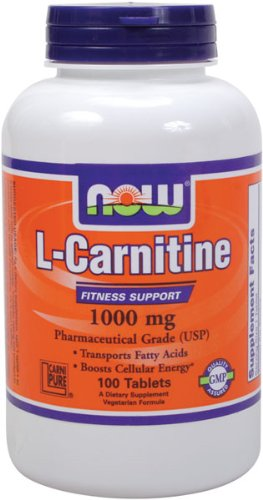 NOW Foods L- Carnitine Tartrate 1000mg, 100 Tablets