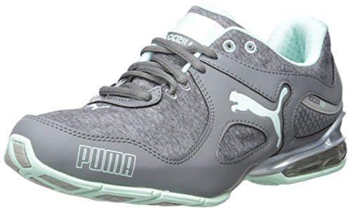 PUMA Women's Cell Riaze W Heather Training Sneaker, Steel Gray/Drizzle/Bay, 9.5 B US