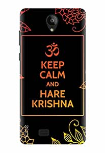 Noise Designer Printed Case / Cover for Swipe Konnect Plus / Quotes/Messages / Hare Krishna Design