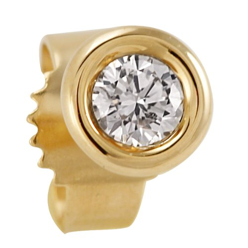 Bella Donna Unisex Single Stud Earring 18ct Yellow Gold 0.10ct 635579