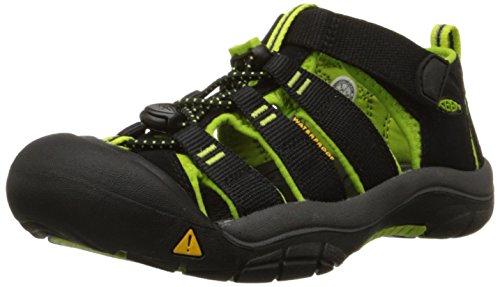 KeenNewport H2 - Scarpe da trekking e da passeggiata Unisex - Bambini, Nero (Black/Lime Green), 38 EU