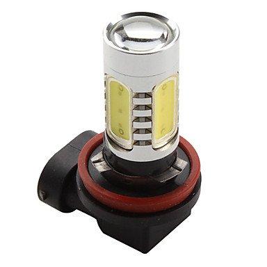 Rayshop - H11 7.5W 600Lm 7000-8000K White Light High-Power Led Bulb For Car Lamps (Dc 12V)