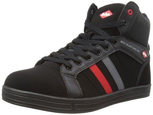 Lee Cooper WorkwearHiking Style - Stivali uomo , Nero (Nero/rosso/grigio), 44