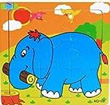 Edealing 2set precioso Conjunto De 9pcs Puzzle de madera juguetes educativos para beb�s Kindergarten