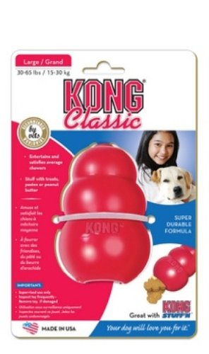 KONG Classic Kong Dog Toy, Large, Red