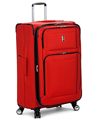 """Delsey Helium Breeze 4.0 29"""" Expandable Spinner Suiter Trolley, RED"""