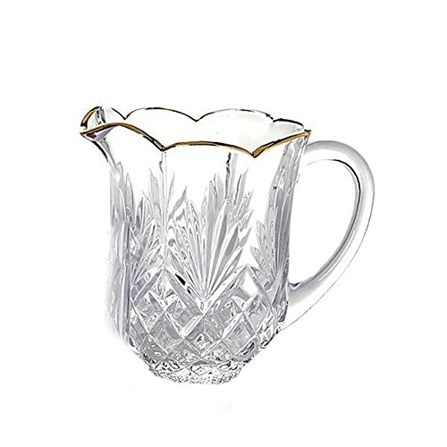Godinger Silver Art Dublin Gold-banded Leaded Water Beverage Drink Pitcher (Water Pitcher Silver compare prices)
