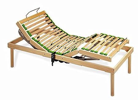Rete in legno naturale ergonomica elettrica doghe strette - 90x190
