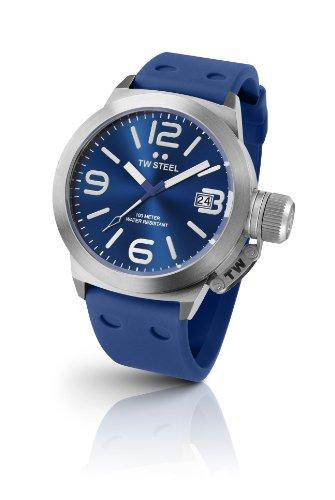 TW Steel - TW-500 - Montre Femme - Quartz Analogique - Bracelet Acier Inoxydable Bleu