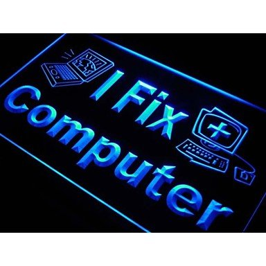 I Fix Computer Laptop Desktop Repairs Light Sign
