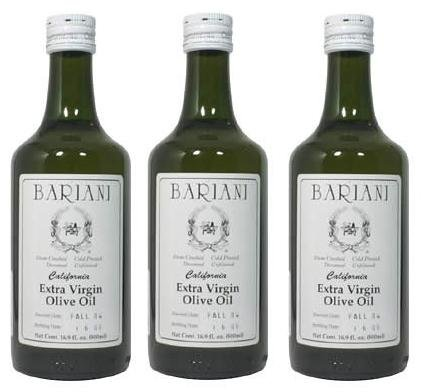 Bariani California Extra Virgin Olive Oil - 3X 1/2 Liter (Bariani Olive Oil compare prices)