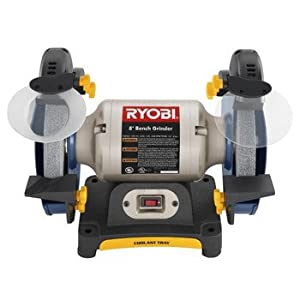 Ryobi Factory Reconditioned 3 0 Amp 8 Bench Grinder Power Bench Grinders