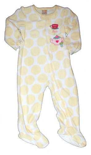 Absorba Tea Time Polka Dot Footed Sleeper - Toddler Girls (4T) front-788918