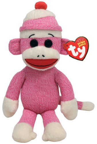 Ty Beanie Babies Socks The Monkey (Pink) - 1