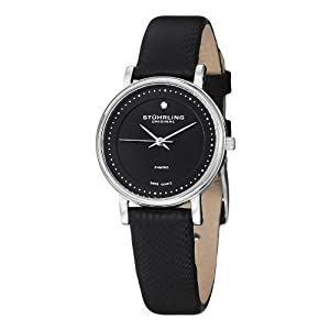 Stuhrling Original Women's Diamond GP13077 Leather Strap Watch