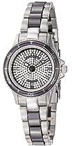 Stuhrling Original Ladies 250.112021 Astera Swiss Quartz Swarovski Date Two Tone Watch
