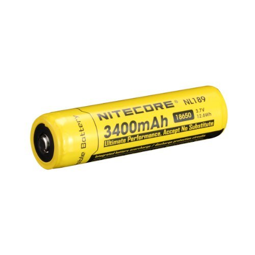 Nitecore 18650 NL189 Li-ion Rechargeable Battery 3400mAh 3.7V 12.6Wh CE UL ROHS Certification (NL189 Battery)