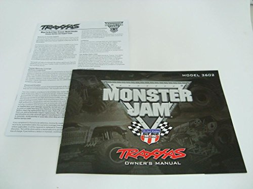 TRAXXAS GRAVE DIGGER MUTT MONSTER JAM OWNERS MANUAL PARTS LIST