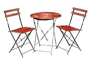 Métal BISTRO TABLE 2 CHAISES SALON BALKONSET de bois de meubles de