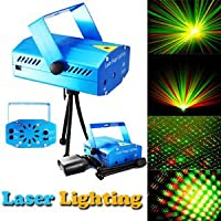 Unica Mini Laser Projector Stage Lighting Sound Activated Laser Light For Party & Dj