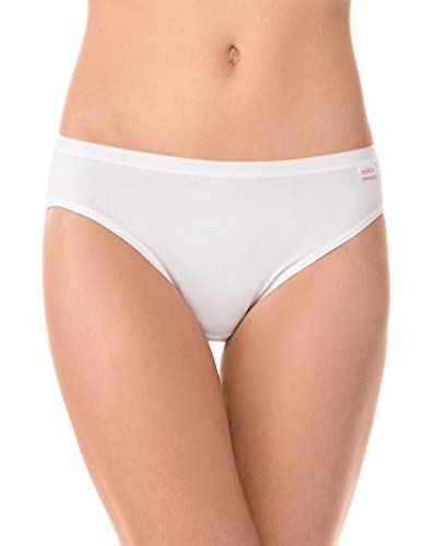 Cotonella Pack x 5 Braguitas 5 Slip In Cotone Bielastico Extra Fine Blanco