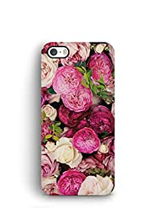 Cover Affair Flowers Printed Back Cover Case for Apple iPhone 5S