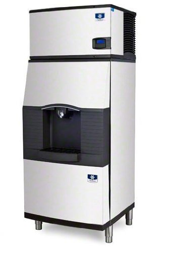 Manitowoc Iy-0304A-Spa-310 310 Lb Air-Cooled Half Cube Ice Machine W/ Spa-310 Hotel Dispenser