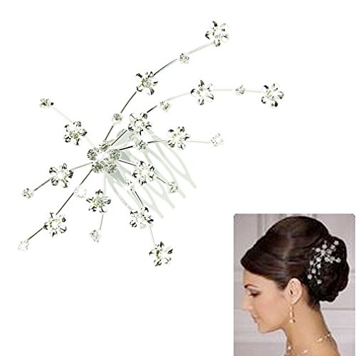 Voberry® Fashion Silver Personality Gem Crystal Wedding Bridal Princess Jewelry Crown Hair Jewelry Accessories