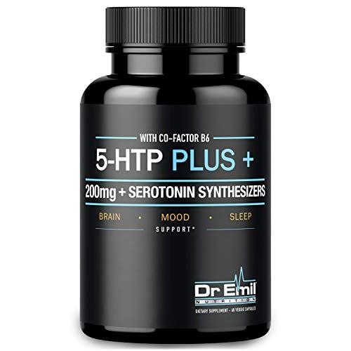 200 MG 5-HTP Plus Serotonin Synthesizers & Cofactor B6 for Improved Serotonin Conversion - Enhanced 5HTP Supplement for Serotonin Boost, Mood & Sleep Support