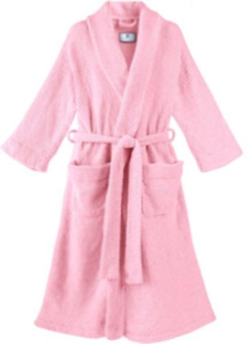 Buy Womens Plus Size Pink Terry Velour Bathrobe with Matching Slippers 100% Cotton