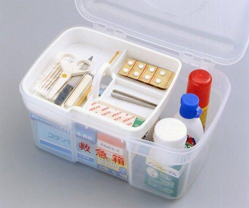 タダプラ キャリング 救急箱 【常備薬の収納に! 】 クリア