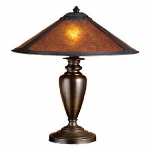 23 Inch H Van Erp Amber Mica Table Lamp Table Lamps