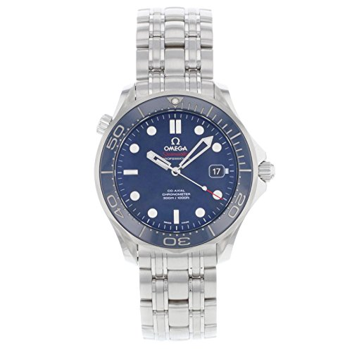 Omega Men's O21230412003001 Seamaster Analog Display Automatic Self-Wind Silver-Tone Watch (Omega Seamaster Blue compare prices)