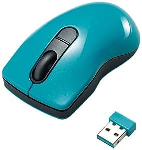ELECOM ワイヤレスレーザーマウス Micro Grast Switch 3ボタン チルトホイール 2.4GHz マイクロレシーバー ブルー M-PG3DLBU