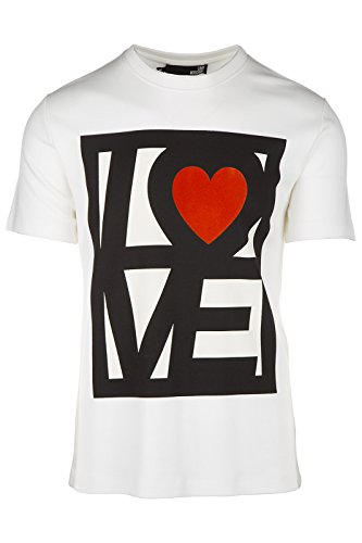 Love Moschino t-shirt maglia maniche corte girocollo uomo bianco EU M (UK 38) M 4 725 02 M 3671 A0