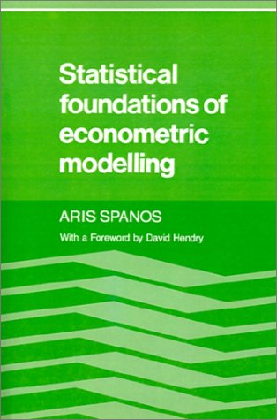 Image for Statistical Foundations of Econometric Modelling