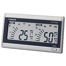 Sato デジタル温湿度計 ルームナビ 【部屋の最高・最低温湿度を常時表示】 Pc-7700 106 Pc-7700
