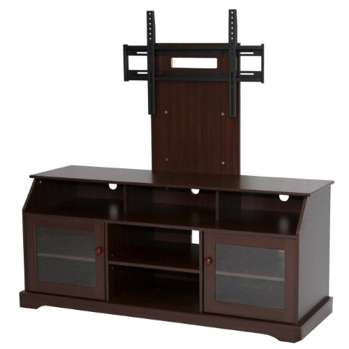 Home Source Industries TV11303 Hardwood TV Stand with Mount and Shelving/Cabinets for Components, Tobacco Finish photo B004Y3GW6U.jpg
