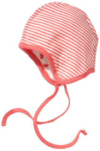 LANA natural wear Unisex - Baby Mützchen, gestreift 900 3802 5014 Mütze Babalu, Gr. 52, Pink (peach/natur)