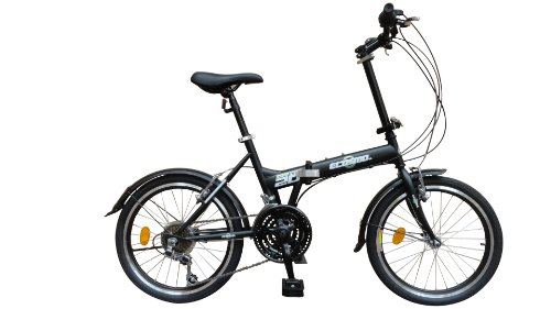 Ecosmo Bicicletta pieghevole da città 21SP - 20F03BL da 50,80 cm