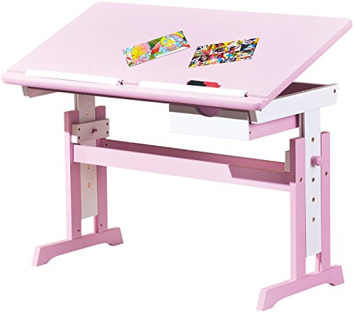 links 99800350 kinderschreibtisch sch lerschreibtisch schreibtisch kinderzimmer tisch rosa. Black Bedroom Furniture Sets. Home Design Ideas